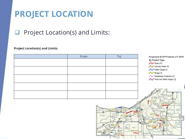 PROJECT LOCATION ❑ Project Location(s) and Limits:
