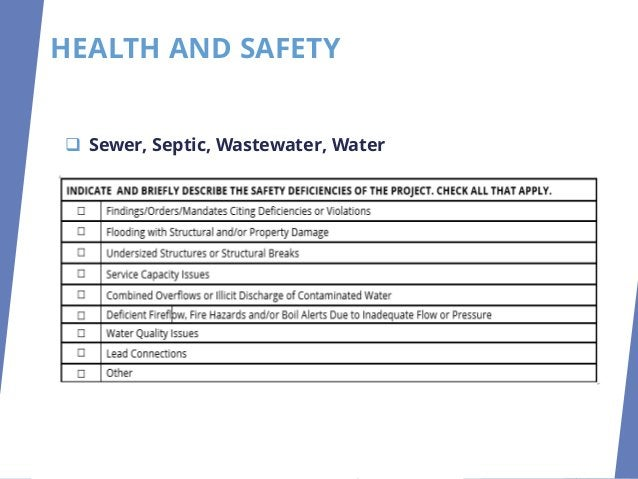 HEALTH AND SAFETY ❑ Sewer, Septic, Wastewater, Water ❑ Cleveland Department of Water ❑ Northeast Ohio Regional Sewer Distr...