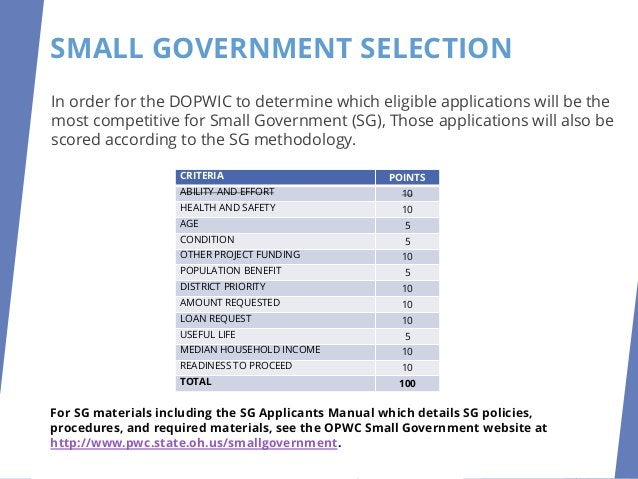 DOPWIC PROJECT SELECTION PROCESS SMALLGOVERNMENTRANKING PRELIMINARYPROJECTRANKING APPEALS REVISEDPROJECTRANKING FINALPROJE...