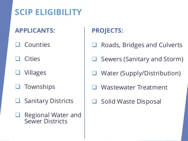 PROJECTS: ❑ Roads, Bridges and Culverts ❑ Sewers (Sanitary and Storm) ❑ Water (Supply/Distribution) ❑ Wastewater Treatment...