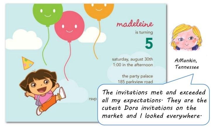 Dora birthday party invite – Dora Party Invites