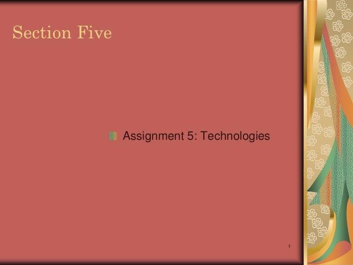 Dora desiderio eaton written assignment #5 technology 3 4 2011