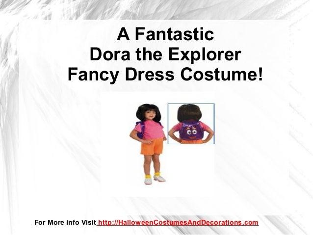 Dora The Explorer Halloween Costume for Little Girls