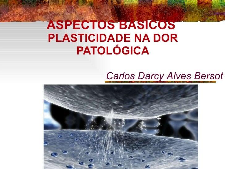 ASPECTOS BÁSICOS  PLASTICIDADE NA DOR PATOLÓGICA Carlos Darcy Alves Bersot
