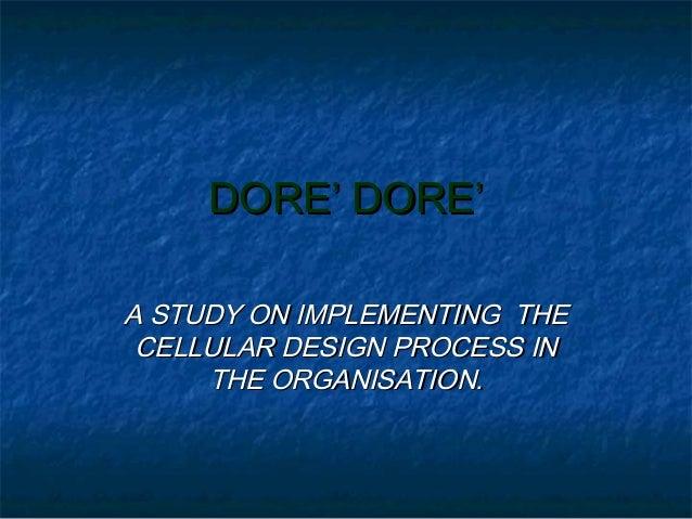 Dore Dore - Term Paper