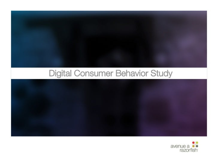 Digital Consumer Behavior Study