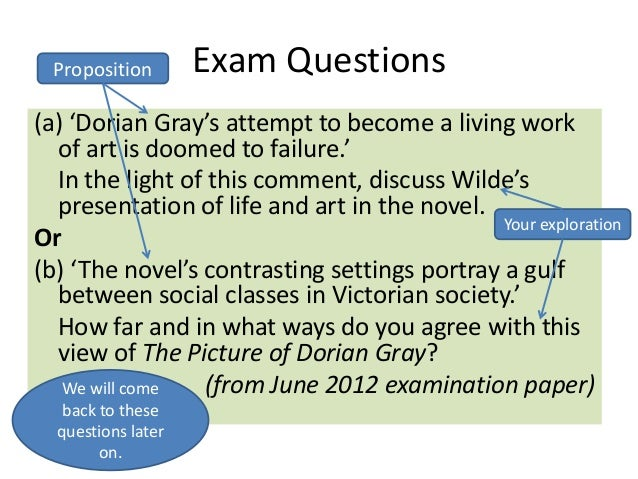 English As A Second Language Essay  Exam Questions A Dorian Grays  Sample Essay High School also Example Of A Thesis Statement For An Essay The Picture Of Dorian Gray  Exam Prep The Importance Of Learning English Essay