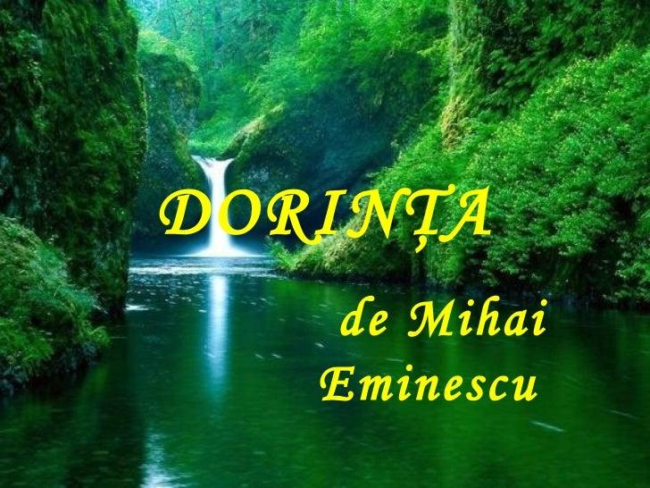 DORINŢA    de Mihai   Eminescu