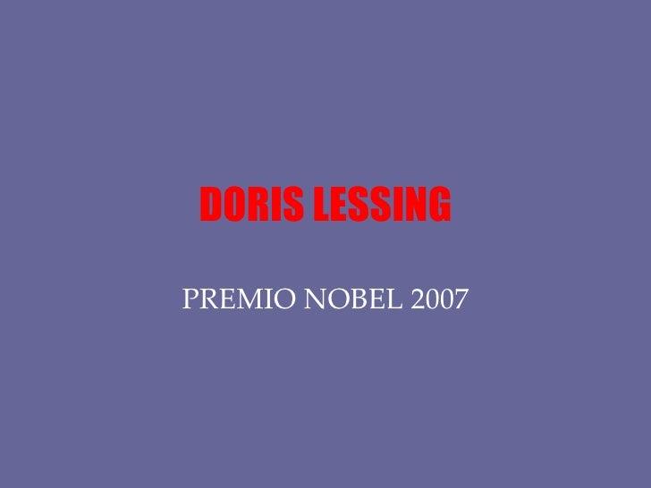 DORIS LESSING PREMIO NOBEL 2007