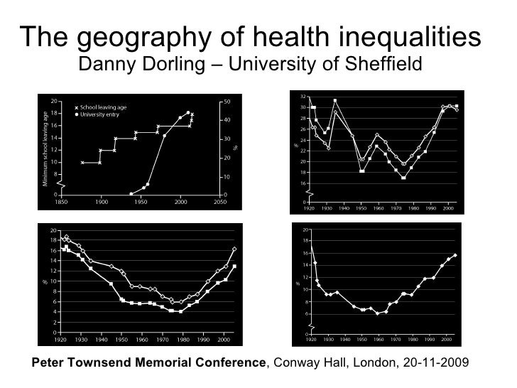 The geography of health inequalities Danny Dorling – University of Sheffield Peter Townsend Memorial Conference , Conway H...