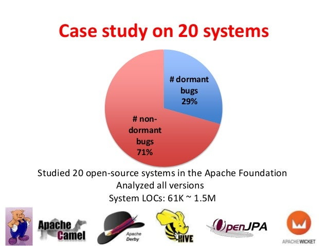 Case study on 20 systems 7 Studied 20 open-source systems in the Apache Foundation Analyzed all versions System LOCs: 61K ...