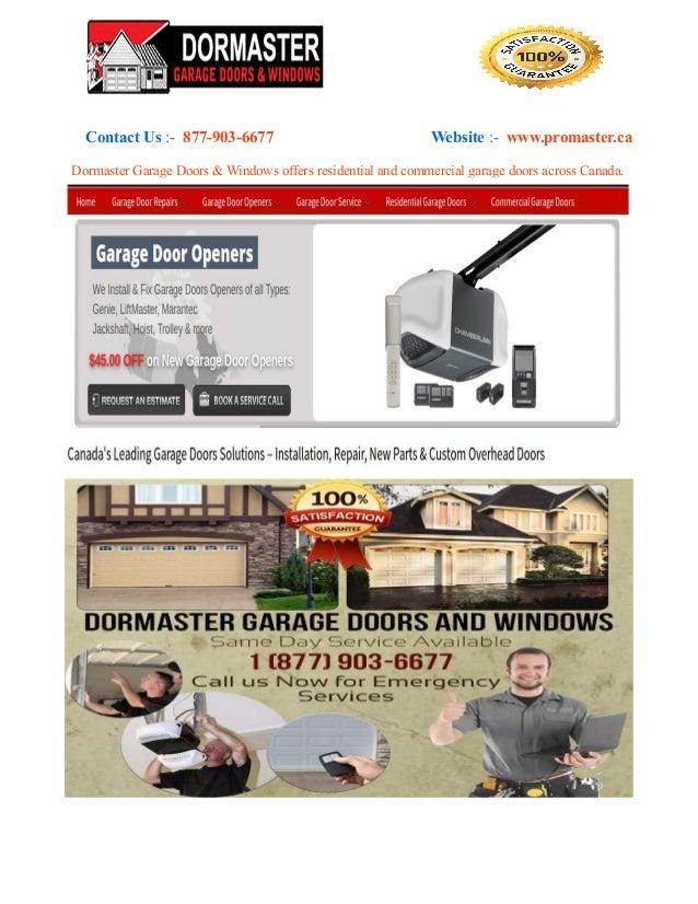 Dormaster Garage Door Repair Parts Cable Maintenance Installatio