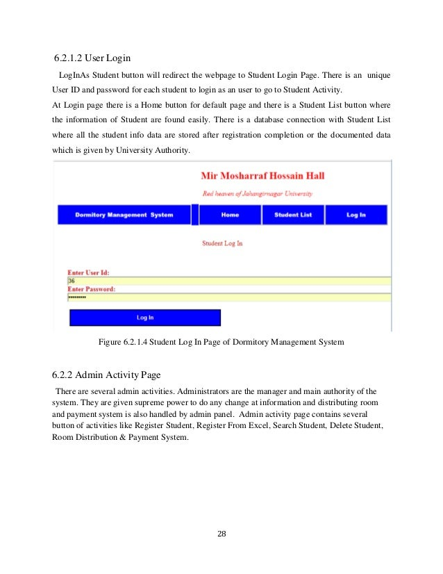 Dormitory management system project report