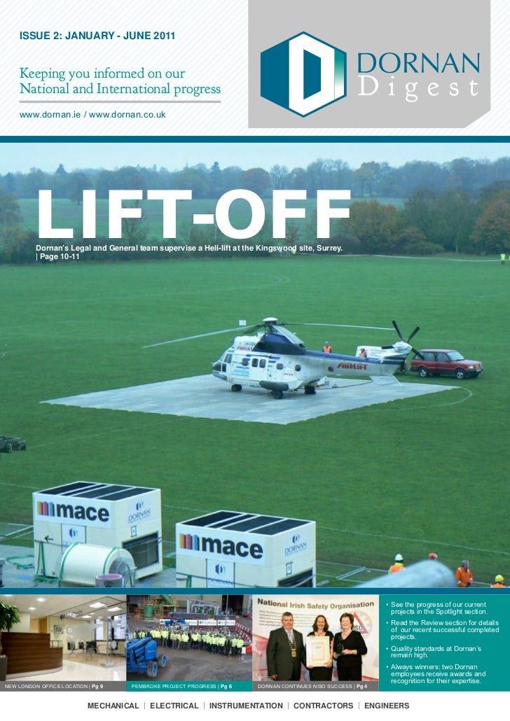 ISSUE 2: JANUARY - JUNE 2011    Keeping you informed on our    National and International progress                        ...