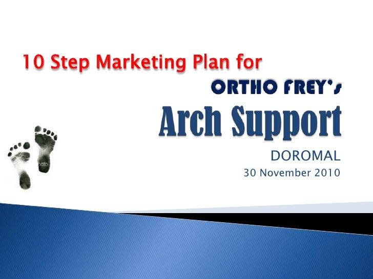 ORTHO FREY'sArch Support<br />DOROMAL<br />30 November 2010<br />10 Step Marketing Plan for<br />