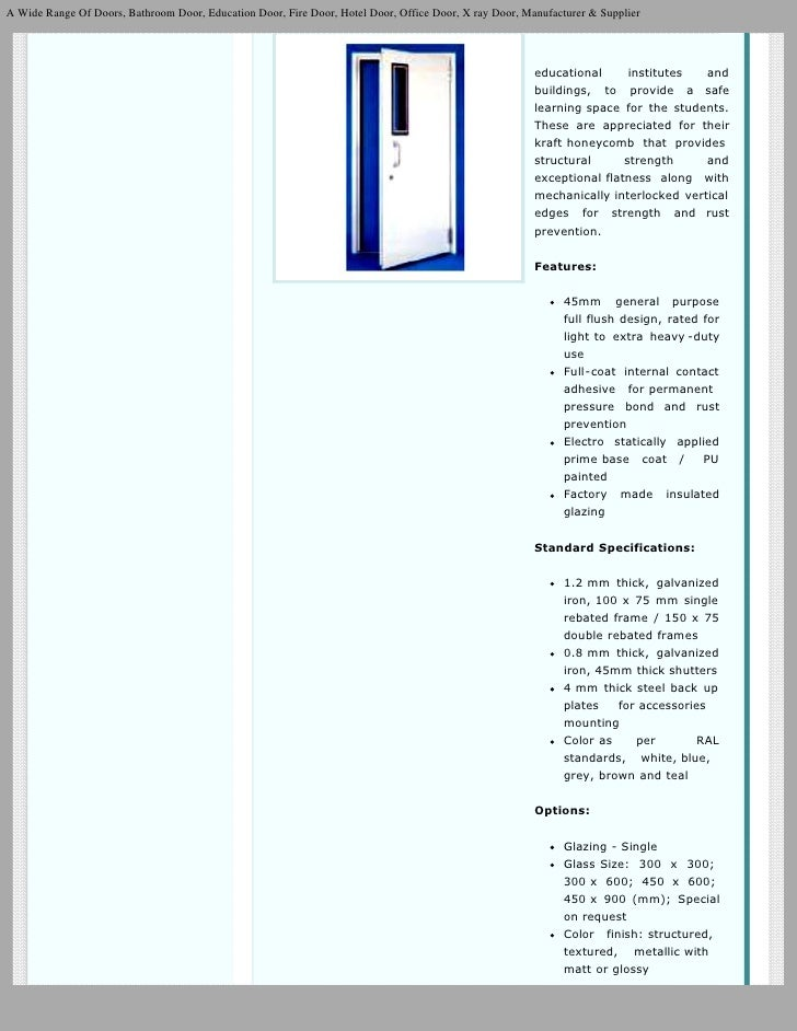 Hollow Metal Doors Steel Door Frames and Hardware Commercial Doors
