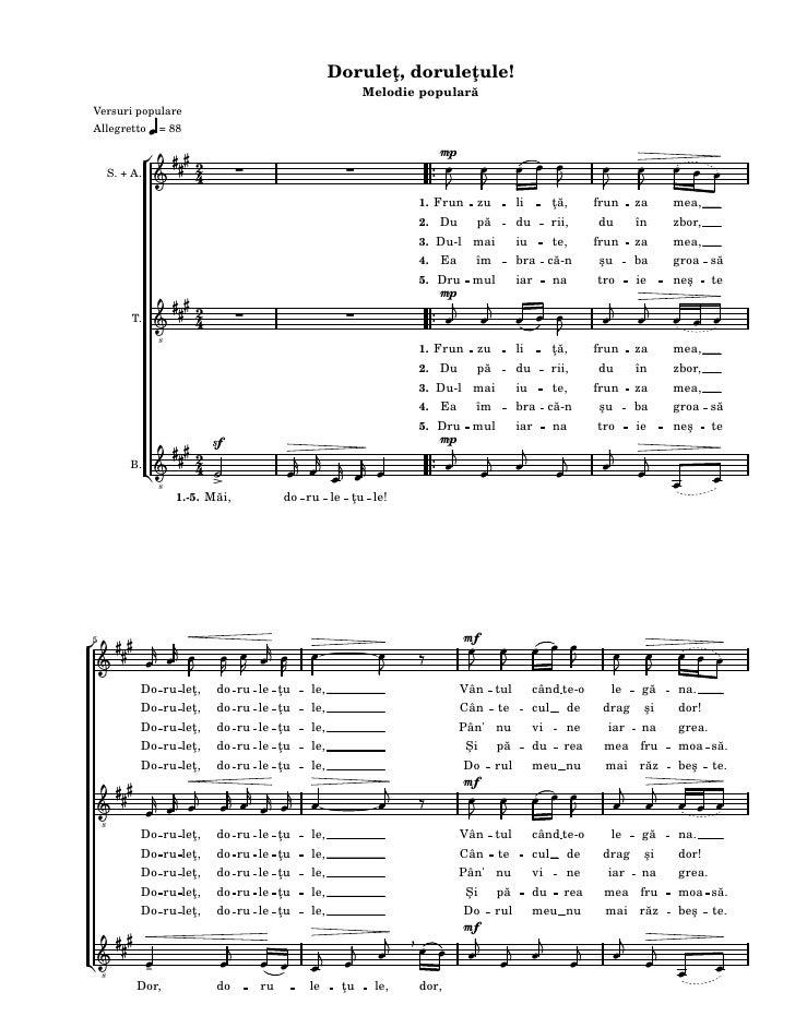 Doruleţ, doruleţule!                                                                   Melodie popularăVersuri populareAll...