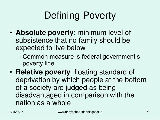absolute poverty what society is doing