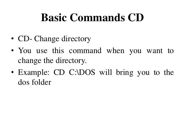 How To Change Directory In Cmd Command Command Prompt 11