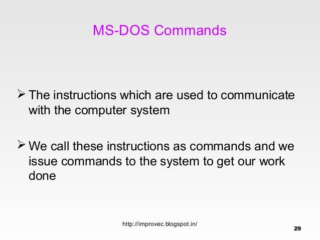 Dos Prompt Types Of Commands 27 T028
