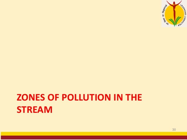 ZONES OF POLLUTION IN THE STREAM 30