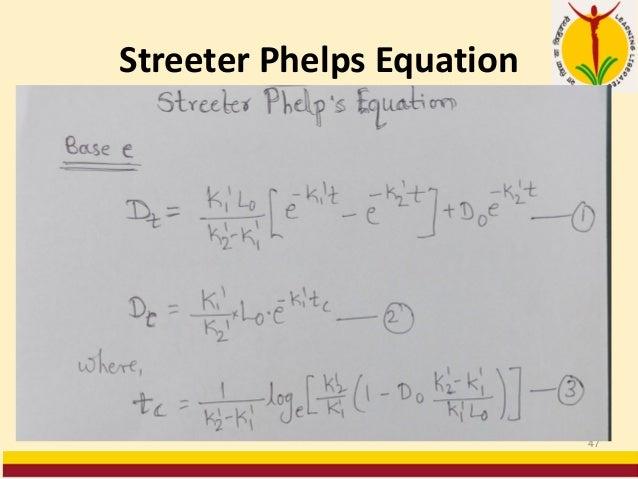 Streeter Phelps Equation 47