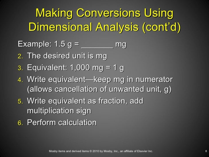 Printables Dimensional Analysis Worksheet For Nursing dosage calculation using dimensional ana 8 making conversions analysis