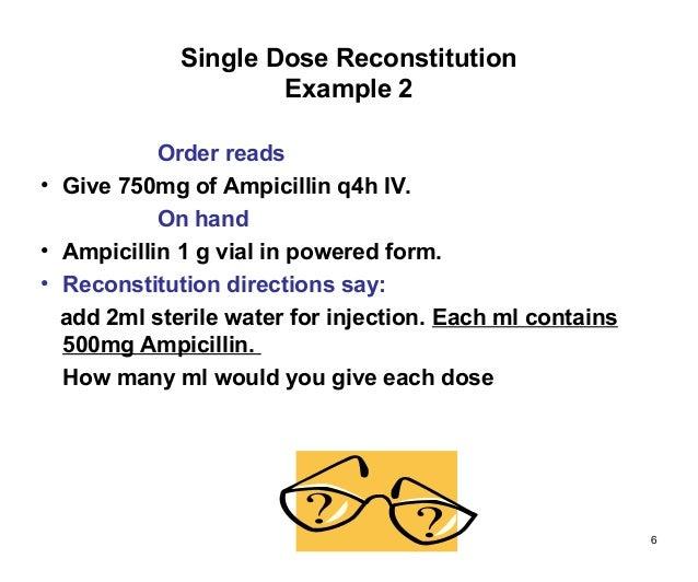 Ampicillin Dosage Forms