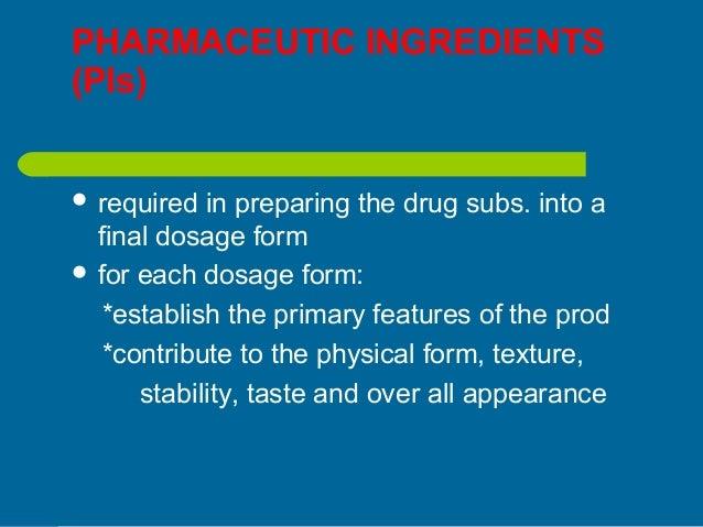 Dosage form design