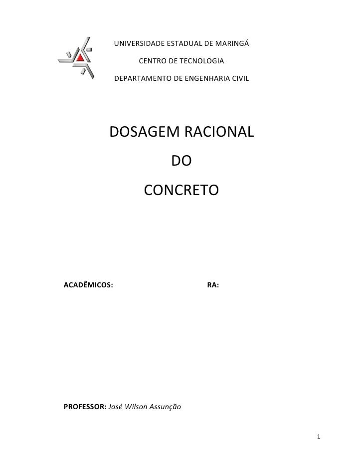 UNIVERSIDADE ESTADUAL DE MARINGÁ                     CENTRO DE TECNOLOGIA                DEPARTAMENTO DE ENGENHARIA CIVIL ...