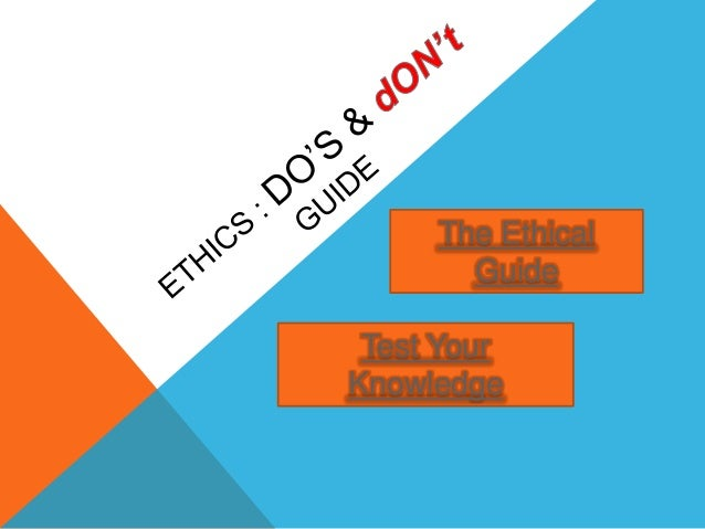 The Ethical Guide Test Your Knowledge