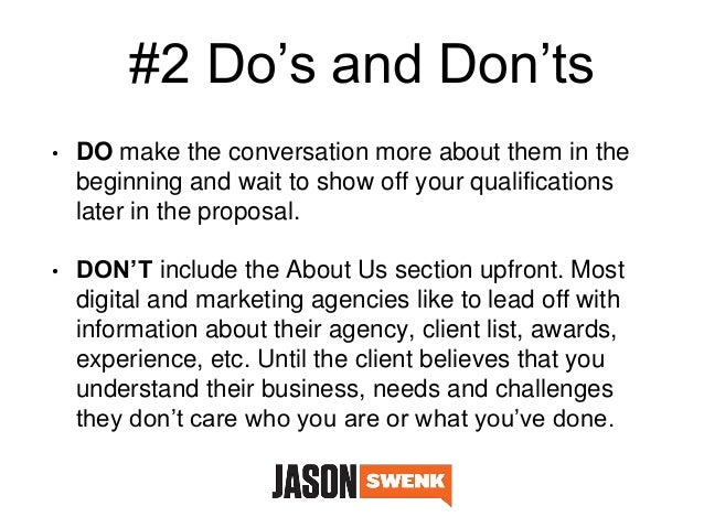 DoS  DonTs To Convert More Of Your Marketing Proposals