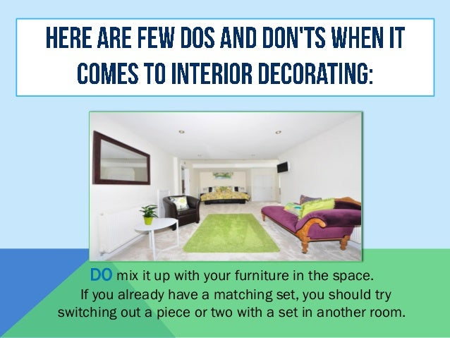 Dos and Don\'ts for Interior Decorating
