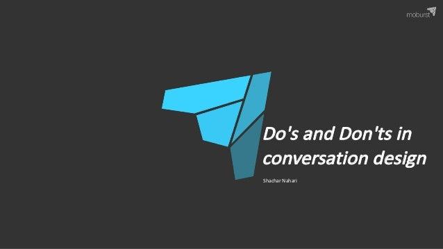 ShacharNahari Do'sandDon'tsin conversation design