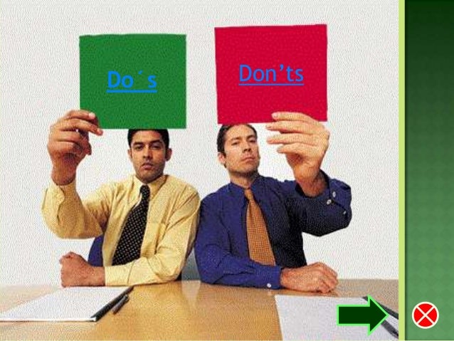 Do's and don'ts of a job interview
