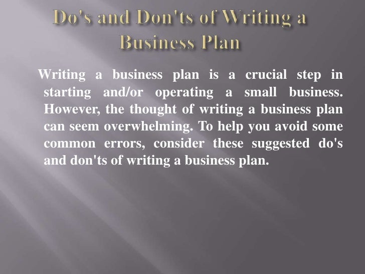Writing a business plan is a crucial step instarting and/or operating a small business.However, the thought of writing a b...