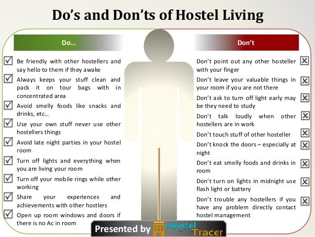 Do's And Don'ts Of Hostel Living