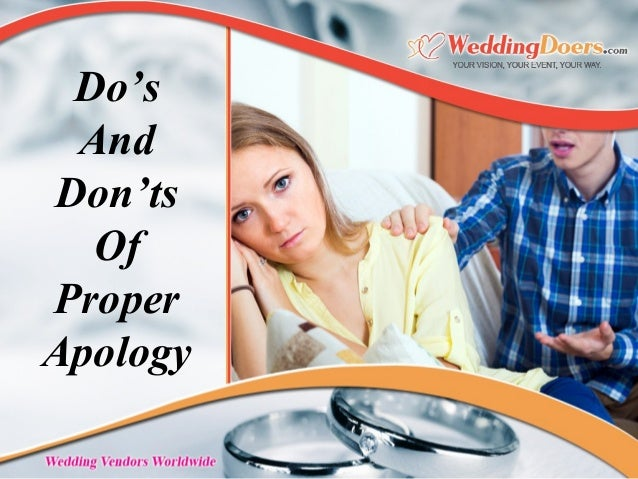 Do's And Don'ts Of Proper Apology