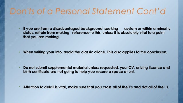 ECFMG Personal Statement Do's and Don'ts