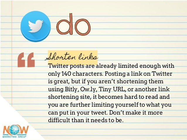 """ Shorten links Twitter posts are already limited enough with only 140 characters. Posting a link on Twitter is great, but..."