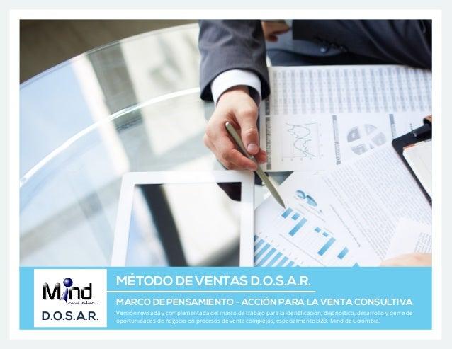 MÉTODO DE VENTAS D.O.S.A.R. MARCO DE PENSAMIENTO - ACCIÓN PARA LA VENTA CONSULTIVA D.O.S.A.R. Versión revisada y complemen...