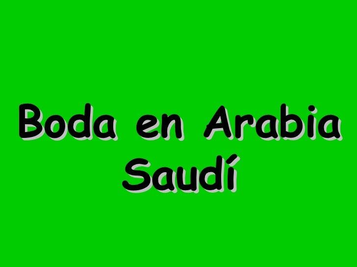 Boda en Arabia Saudí