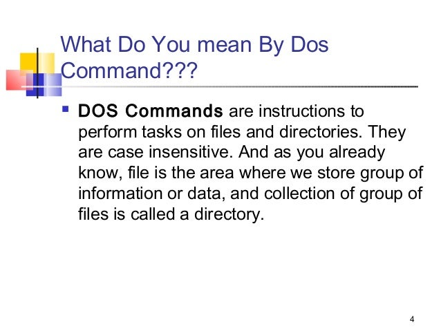 Dos Commad By Ammar Nawab Ppt