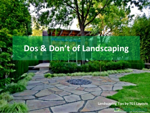 Dos & Don't of Landscaping Landscaping Tips by TGS Layouts