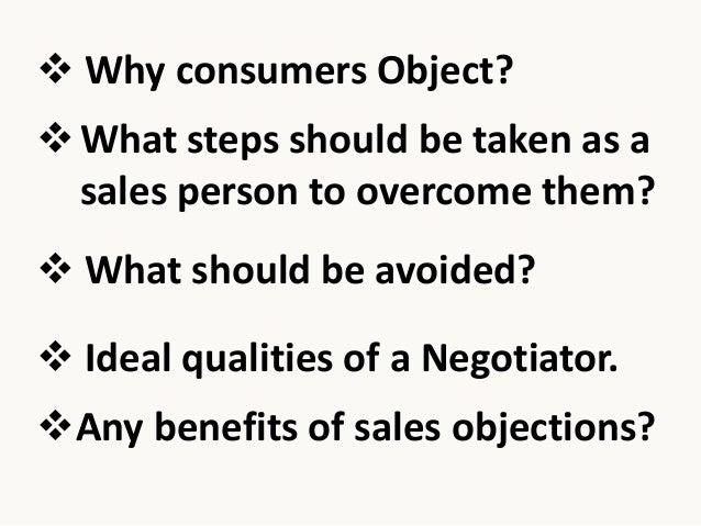 Sales Objections Slide 2