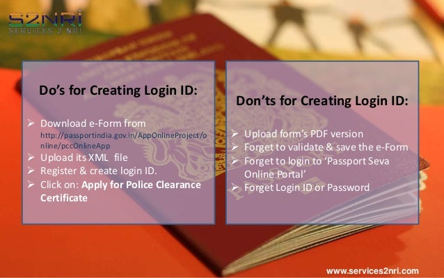 Do's & Don'ts to Get Online PCC for Passport