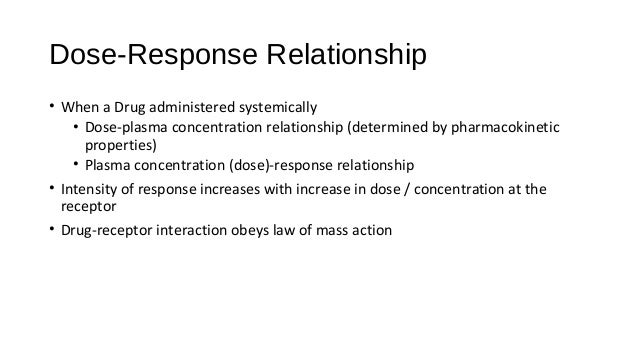 dose and response relationship