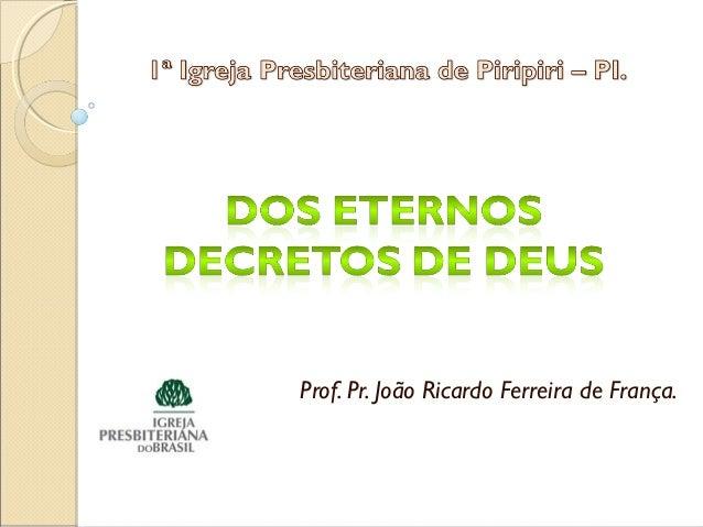 Prof. Pr. João Ricardo Ferreira de França.
