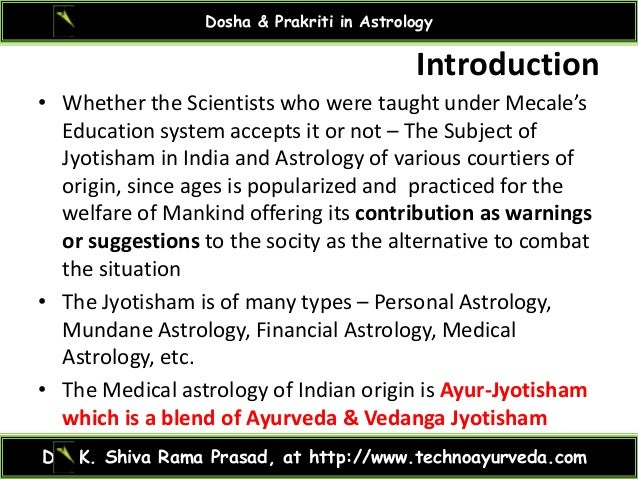 Dosha prakruti in astrology Slide 2