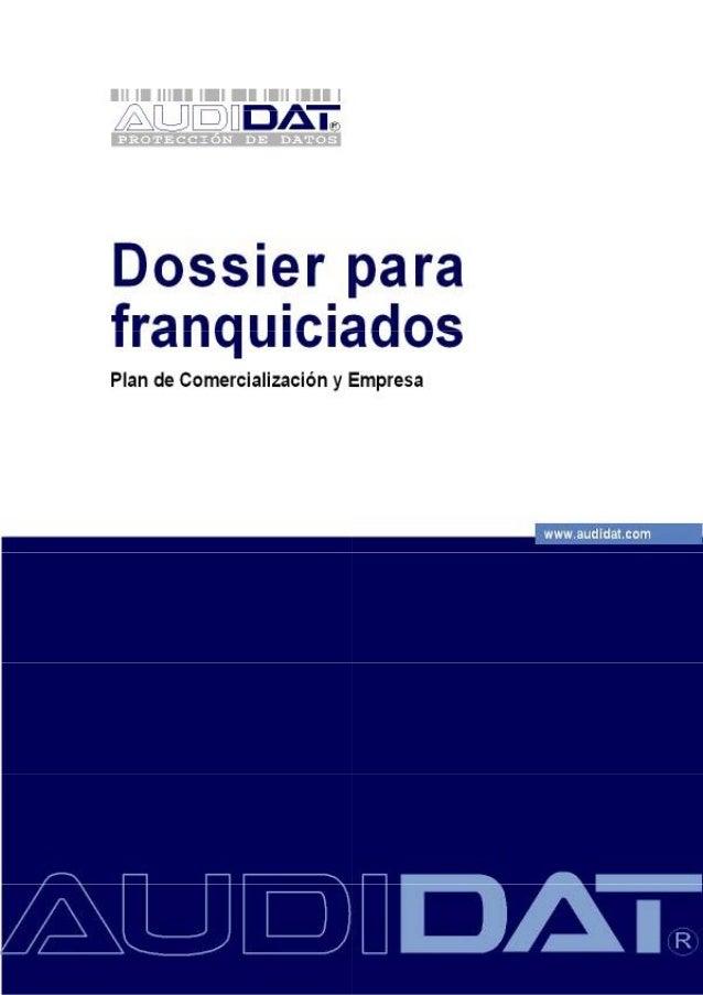Dossier para franquiciados - Plan de comercialización y empresa